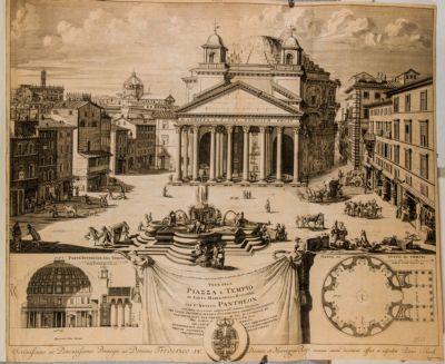Veue de la piazza e tempio di S. Maria della Rotonda