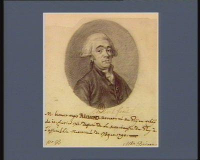 M. Benoit Regis Richond avocat né au Puy en Velay le 10 fevrier 1741 deputé de la senechaussée du Puy à l'Assemblée nationale de 1789 et <em>1790</em> : [dessin]