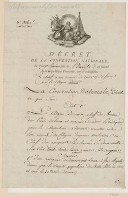 Conseil executif provisoire décret de la Convention nationale... : [estampe]