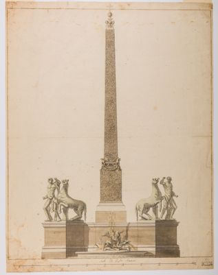 Obelisco e Fontana dei Dioscuri al Quirinale