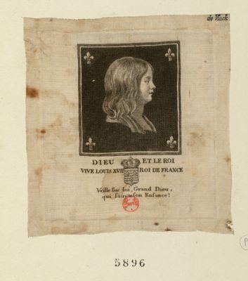 Dieu et le Roi vive Louis XVII Roi de France veille sur lui Grand Dieu qui sauvas son enfance : [estampe]