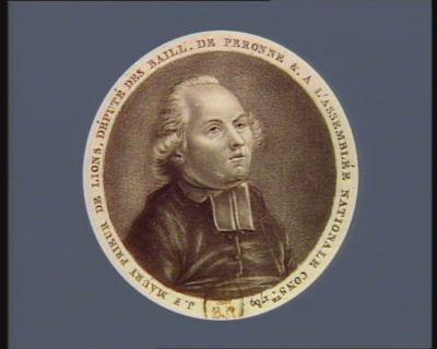 J.F. Maury prieur de Lions, député des baill. de Peronne &. <em>à</em> l'Assemblée nationale cons.te 1789 [estampe]