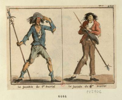 Le  Jacobin du 1.ier prairial Le Jacobin du 4.ime prairial : [estampe]