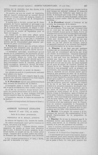Tome 48 : Du 11 août au 25 août 1792 - page 297