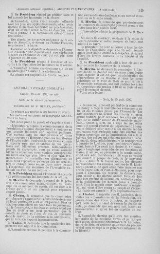 Tome 48 : Du 11 août au 25 août 1792 - page 349