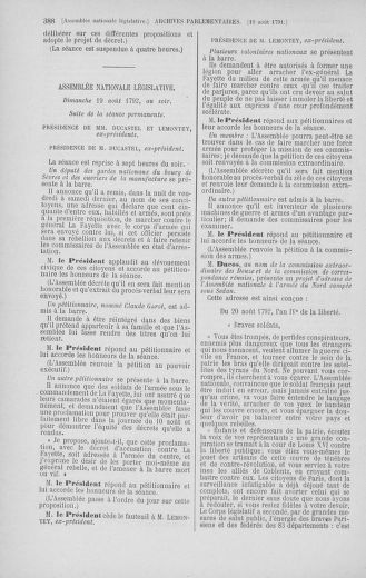 Tome 48 : Du 11 août au 25 août 1792 - page 388
