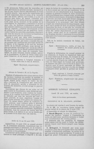 Tome 48 : Du 11 août au 25 août 1792 - page 399