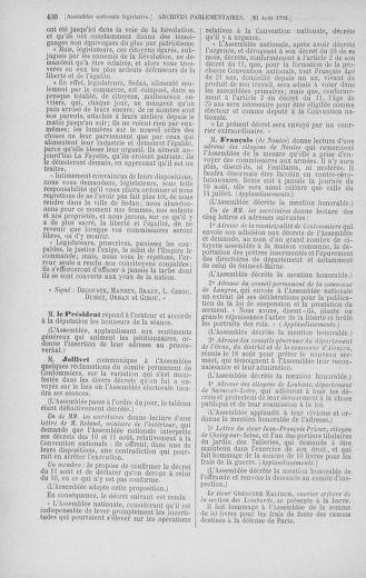 Tome 48 : Du 11 août au 25 août 1792 - page 430