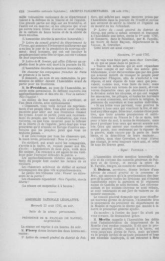 Tome 48 : Du 11 août au 25 août 1792 - page 618