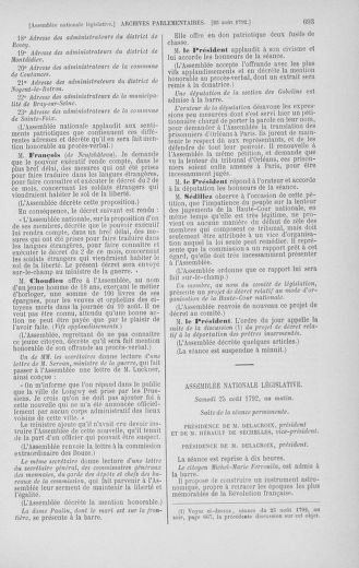 Tome 48 : Du 11 août au 25 août 1792 - page 693