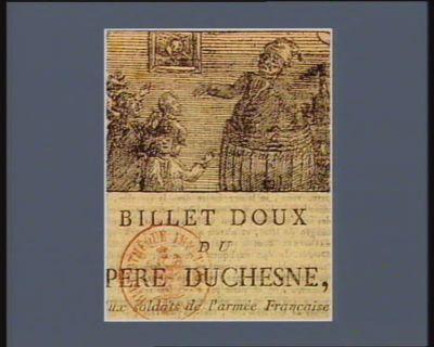 Billet doux du pere Duchesne, aux soldats de l'armée française [estampe]