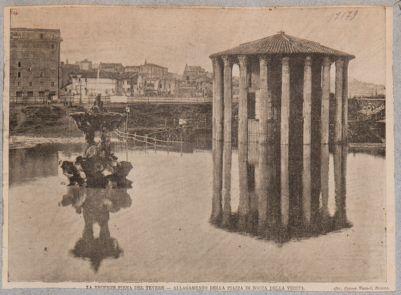 Foro Boario. Tempio cosidetto di Vesta e fontana adiacente