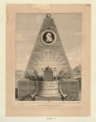 Hommage rendu aux vues bienfaisantes de l'Assemblée nationale constituante et à la loyauté de Louis XVI dédié aux Français amis de l'ordre et de la prospérité publique... : [estampe]