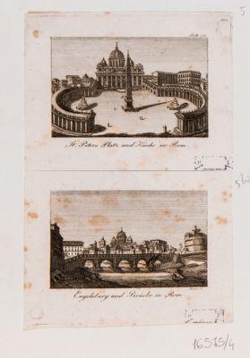 St. Peters Platz und Kirche in Rom, Engelsburg und Brucke in Rom