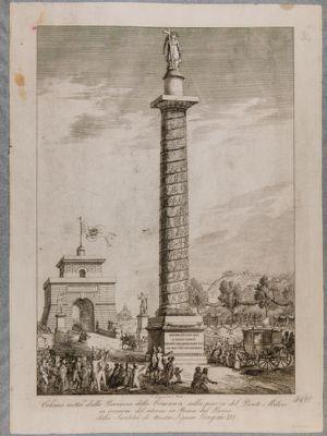 Colonna di Gregorio XVI eretta a ponte Milvio