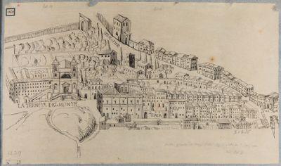 Panorama (parziale) di Roma. Trinità dei Monti