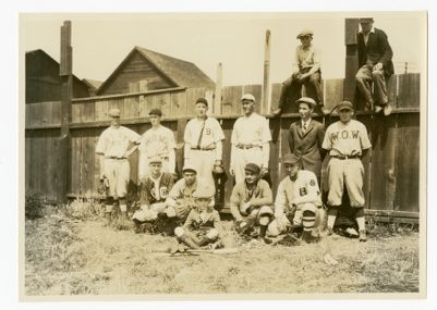 Key Systems baseball nine, August 9, 1925 at Alberger
