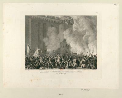 Arrestation de Mr de Launay, gouverneur de la Bastille le 14 juillet 1789 : [estampe]
