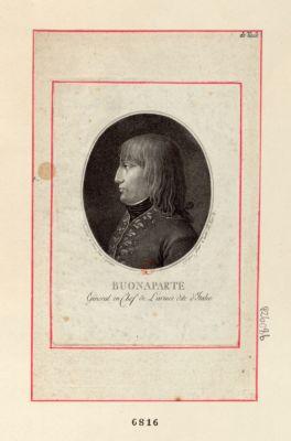 Buonaparte général en chef de l'armée dite d'Italie [estampe]