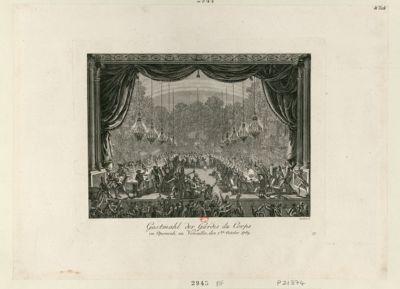 Gastmahl der Gardes du Corps im Opernsale zu Versailles, den 1ten <em>October</em> <em>1789</em> : [estampe]