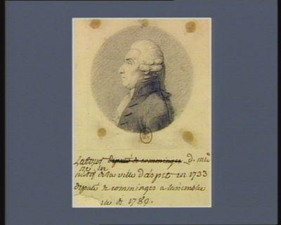 Latour natif de la ville d'Aspet en 1733 député de Comminges à l'Assemblée [<em>nation</em>]ale de 1789 : [dessin]