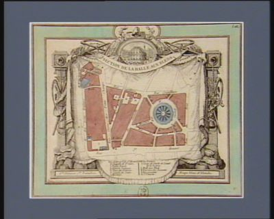 Section de la Halle aux bleds 6.me division, 7.me bataillon, bleue et blanche... : [estampe]