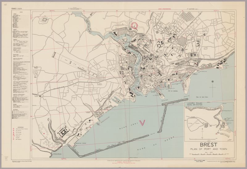 Brest : plan of port and town