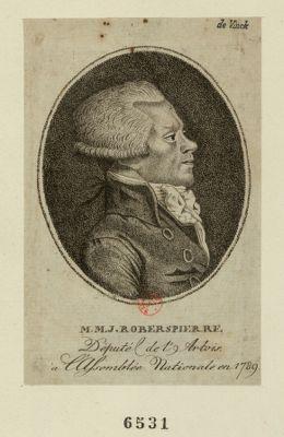 M.M.J. Roberspierre député de l'Artois à l'Assemblée nationale en 1789 : [estampe]