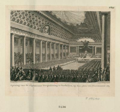 Opening van de Algemeene Vergadering te Versailles [estampe]