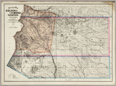 Official map of Colfax County, New Mexico in SearchWorks catalog
