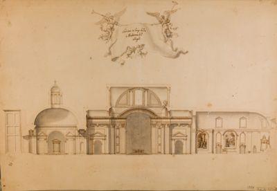Chiesa della Madonna degli Angeli, sezione in lungo