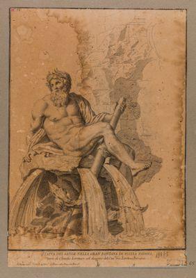 Statua del Gange nella gran fontana di piazza Navona