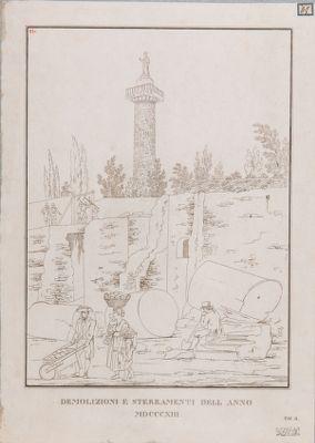 Foro Traiano, demolizioni e sterramenti del 1813