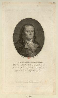 P.G. Anaxagore Chaumette né à Nevers, dép.t de la Nièvre, le 24 mai 1763, procureur de la commune de Paris... : [estampe]