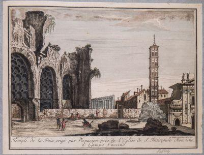 Basilica di Costantino, veduta del prospetto sul Foro