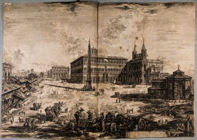 S. Giovanni in Laterano. Veduta della piazza e della basilica