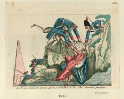 La  France sauvée de l'abime par le patriotisme ou les abus l'avoient précipitée [estampe]