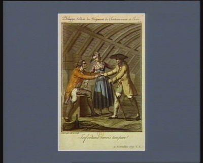 Philippe, soldat du régiment de Chateau-vieux et Elise infortuné revois ton pere ! 11 novembre <em>1790</em> v.s. : [estampe]