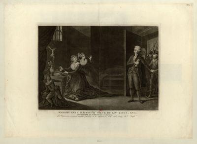 Madame Anne Elisabeth soeur du roy Louis XVI condamnée au supplice le 10 mai 1794 les commissaires en exercice viennent le notifier et la somment de sortir sur le champ du Temple : [estampe]