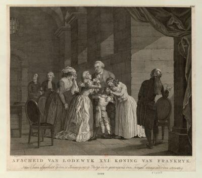 Afscheid van Lodewyk XVI Koning van Frankryk naart leven afgeschetst... : [estampe]
