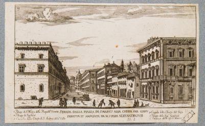 Palazzo Venezia. Angolo verso la odierna via del Plebiscito