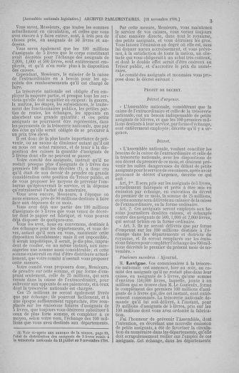 Tome 35 : Du 11 novembre au 10 décembre 1791 - page 3