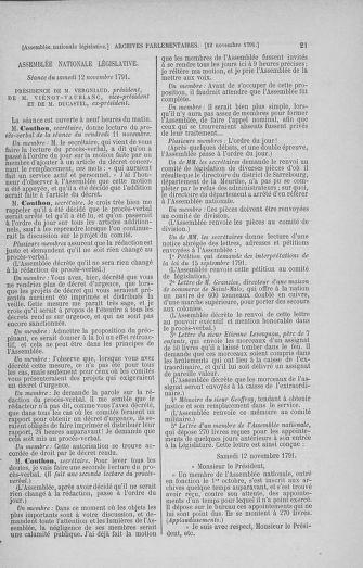 Tome 35 : Du 11 novembre au 10 décembre 1791 - page 21