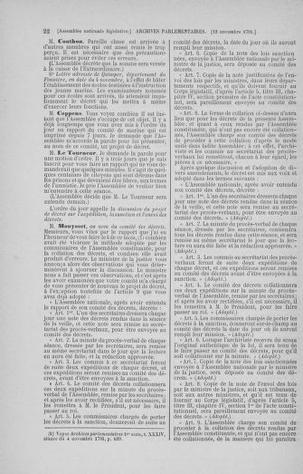Tome 35 : Du 11 novembre au 10 décembre 1791 - page 22