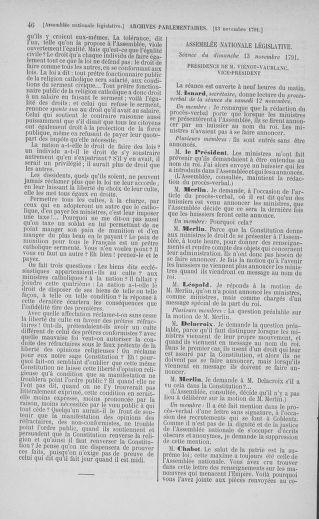 Tome 35 : Du 11 novembre au 10 décembre 1791 - page 46