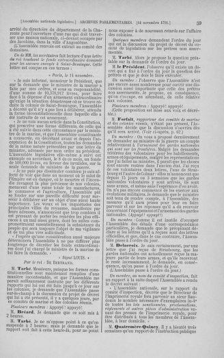 Tome 35 : Du 11 novembre au 10 décembre 1791 - page 59