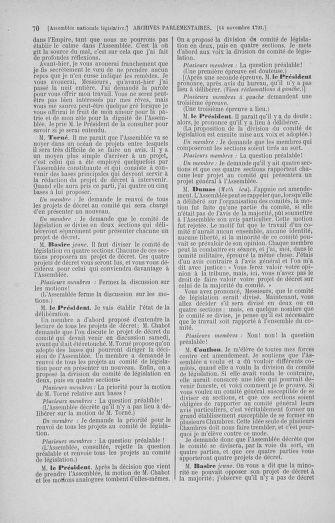 Tome 35 : Du 11 novembre au 10 décembre 1791 - page 70