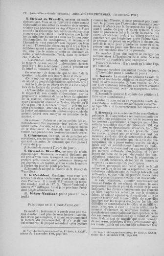 Tome 35 : Du 11 novembre au 10 décembre 1791 - page 72