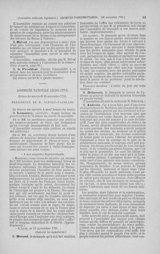 Tome 35 : Du 11 novembre au 10 décembre 1791 - page 85