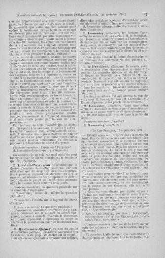 Tome 35 : Du 11 novembre au 10 décembre 1791 - page 87